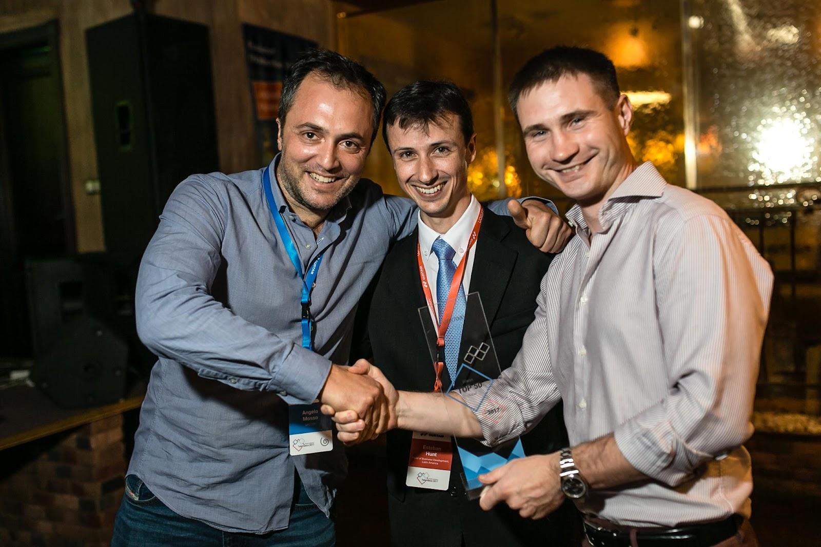 Анджело Моссо, CEO GPS7000, с Эстебаном Хантом и Алексеем Щурко
