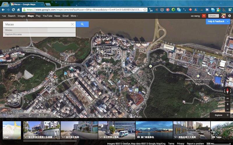 Google Maps 里的 Google Earth