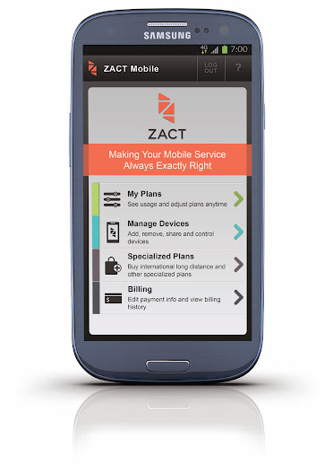 ZACT Mobile on a Samsung Phone Available at Best Buy Mobile Specialty Stores