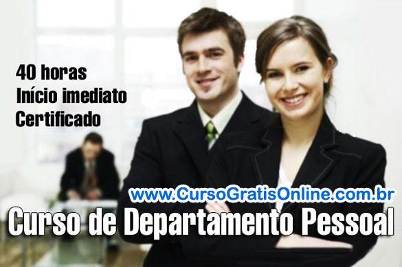 curso departamento pessoal Curso de Departamento Pessoal
