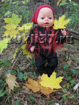 короткая шубка для куклы