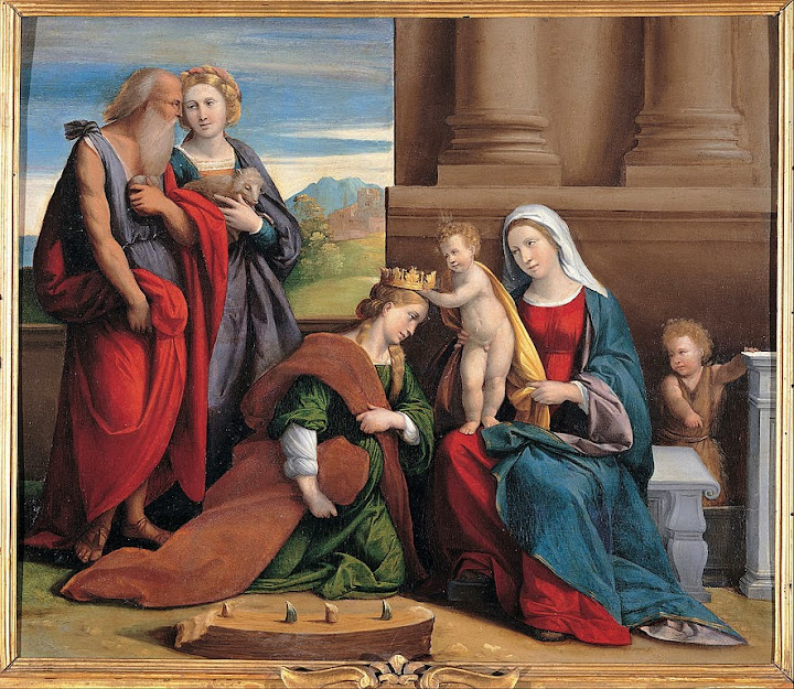 Garofalo and workshop - Coronation of Saint Catherine - Google Art Project