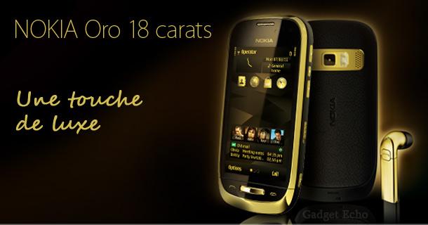 nokia c7 or oro luxe smartphone riche