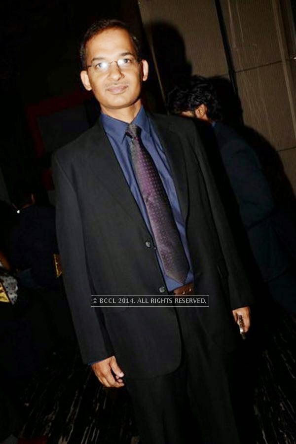 Manoj Shukhla during the SS Group launch party, held at Taj Vivanta, in Gurgaon.<br />