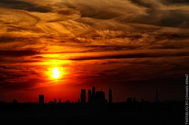 Москва. Закатное, ночное