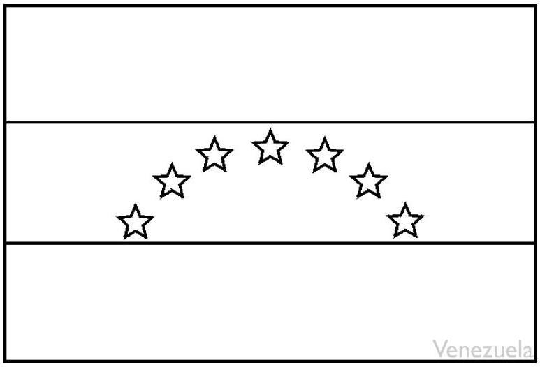 Bandera de venezuela con las ocho estrellas colorear - Imagui