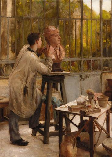 Édouard Joseph Dantan - L'Atelier du Sculpteur