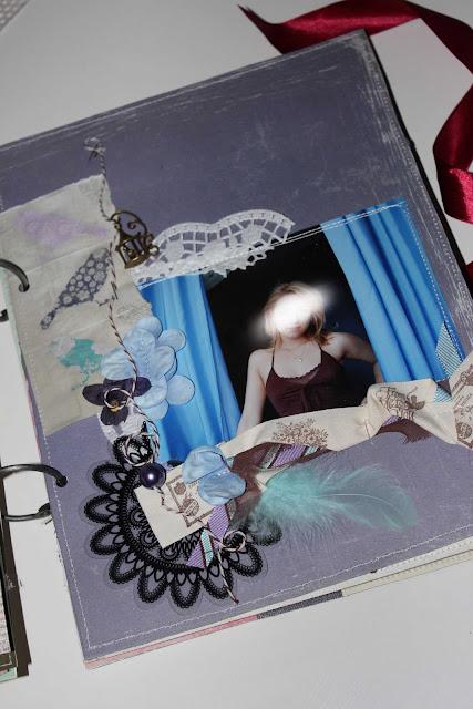 scrap-scrap.ru: фиолетовая скрап-страничка