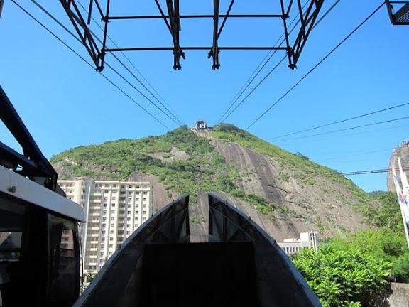 Cable car at Sugar Loaf Mountain in Rio de Janeiro Brazil