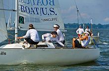J/22 sailor- Anna Tunnicliffe wins Santa Maria Cup