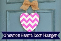 Chevron Heart Door Hanger