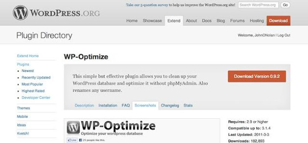 WP-Optimize WordPress Plugins