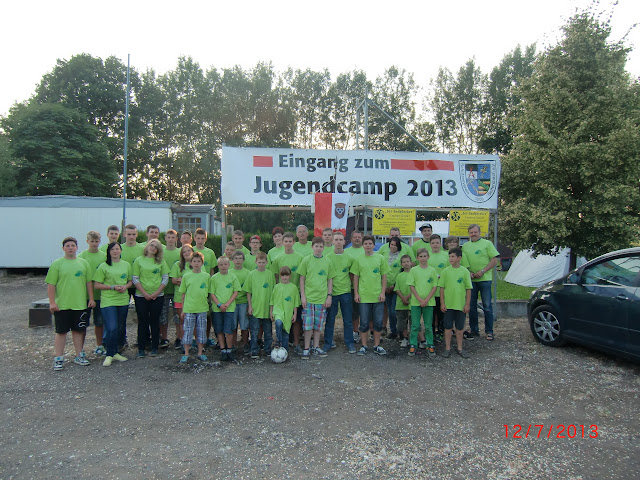 Gruppenfoto Jugendcamp 2013