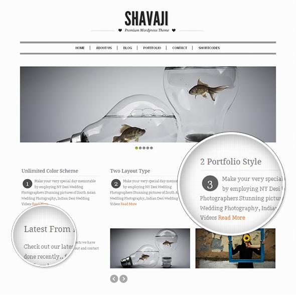 Shavaji Sleek WordPress Theme