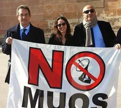 Nello Papandrea, Goffredo D'Antona e Paola Ottaviano, avvocati dei coordinamenti No Muos