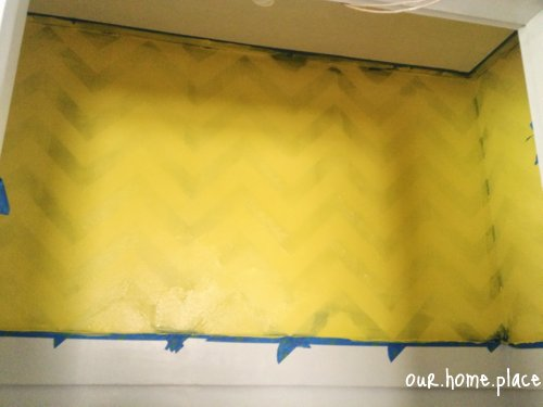 yellow chevron wall paint
