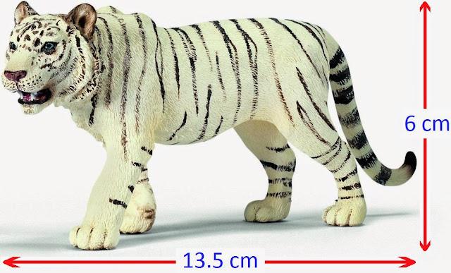 Đồ chơi Mô hình Schleich Male Tiger White - Hổ Trắng vằn đen đẹp mắt