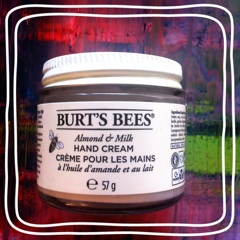 almond milk hand cream burt's bees