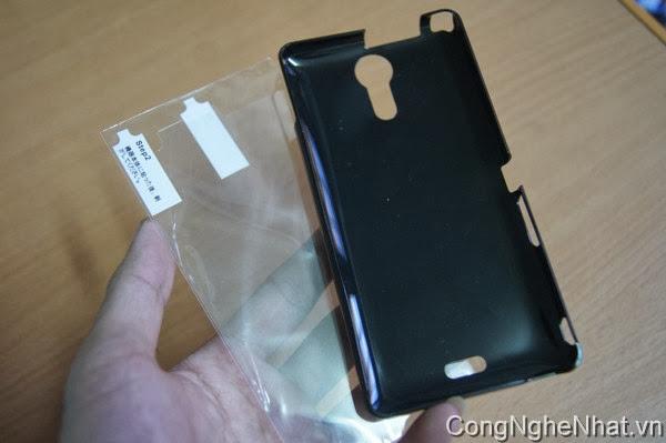 Ốp lưng Sony Xperia ZR (SO-04E) điện thoại nhật cứng mầu đen Buffalo
