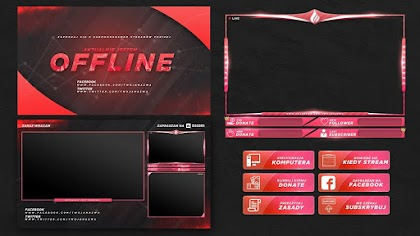 PINK AND RED TWITCH STREAM OVERLAY TEMPLATE FREE DOWNLOAD