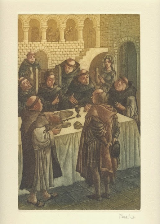 El Inquisidor - Grabado original de Celedonio Perellón