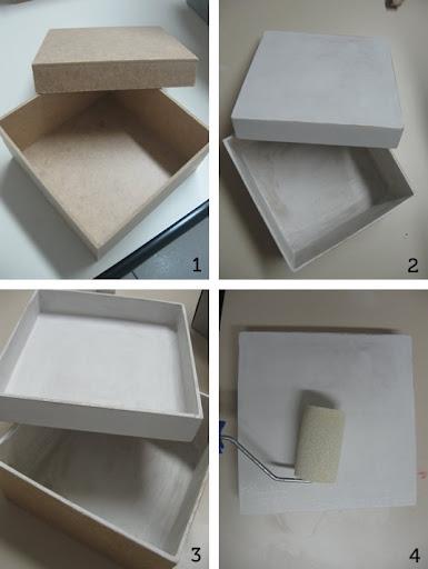 Decoração de caixas - passos