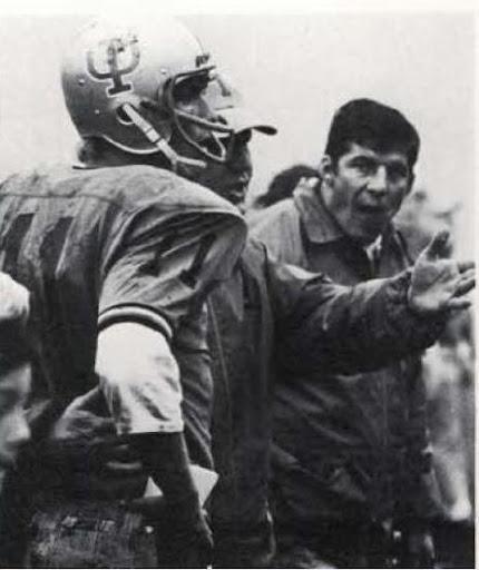 #11 Steve Olsen (Lewiston).  Idaho vs Weber State at Rogers Field, Nov. 7, 1970.