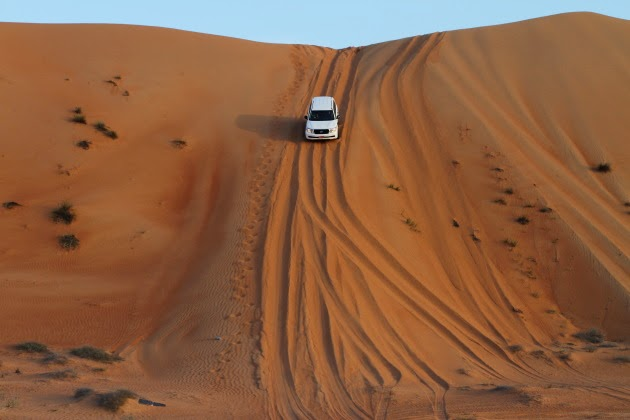 Dune Bashing at Wahiba Sands, Oman