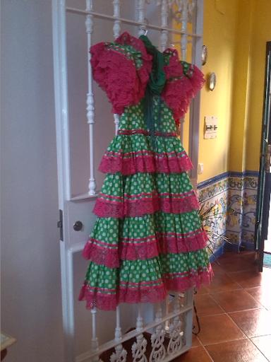vestido flamenca buen estado solo un