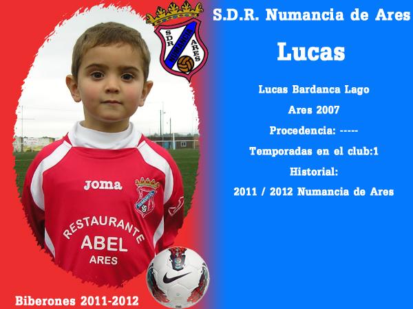 A. D. R. Numancia de Ares. Biberones 2011-2012. Lucas