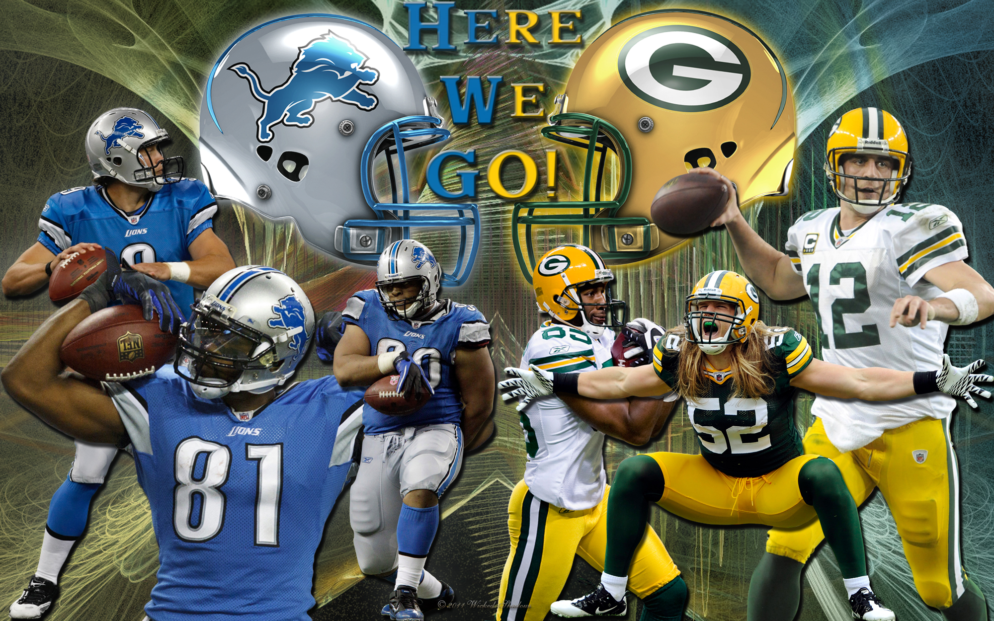Detroit Lions Vs Green Bay Packers Here We GO Wallpaper