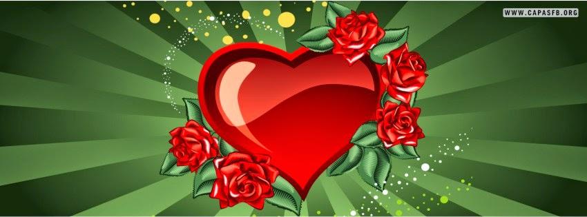 Capas para Facebook Coração