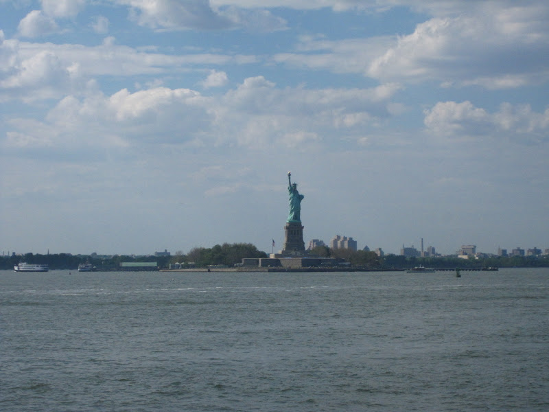 View of Statue of Liberty on the way back to the city