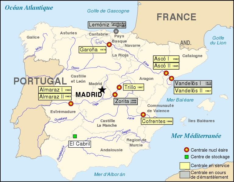 centrais nucleares em espanha mapa Nuclear! | A Defesa de Faro centrais nucleares em espanha mapa