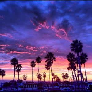 a tropical sunset in san clemente