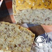 chleb pszenno- żytni z siemieniem lnianym