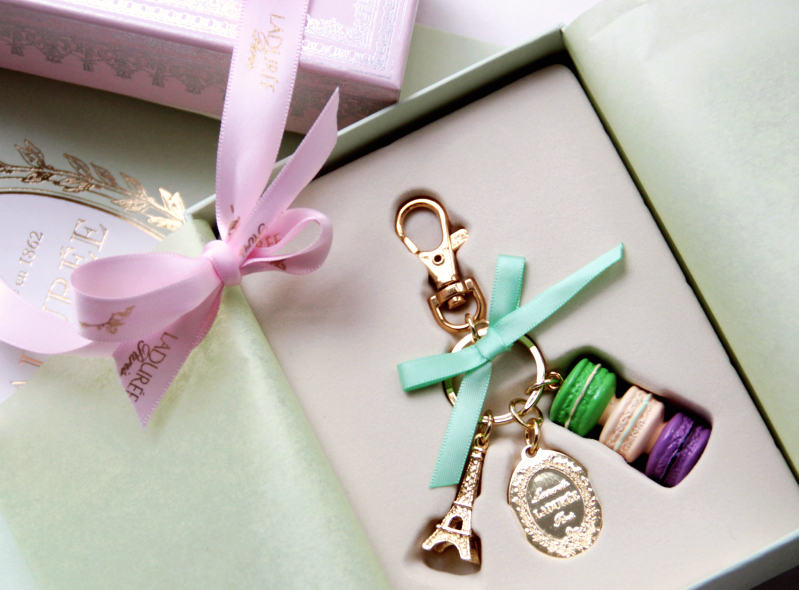 laduree macarons key chain