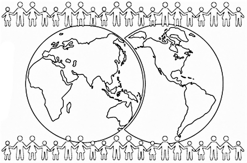 Images of world population coloring pages
