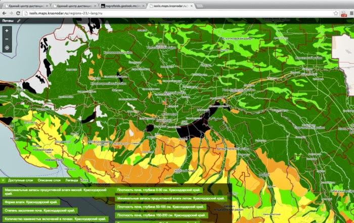 Единый центр спутникового мониторинга Краснодарского края - Почвы