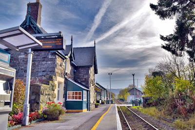 The Station Master's House at Caersws Railway Station, Caersws, Powys