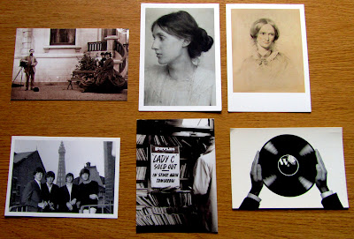 black and white postcards