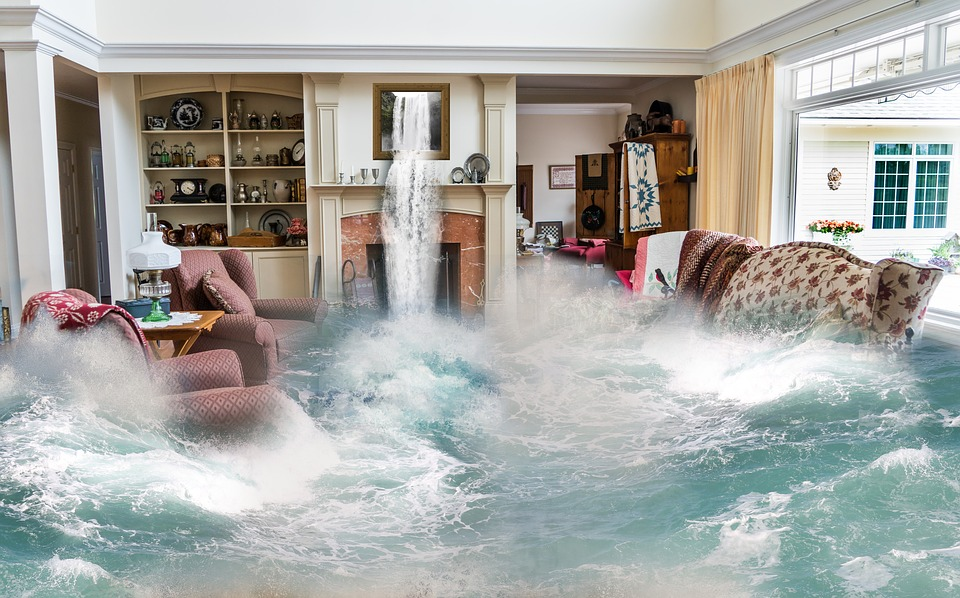 Water coming inside the living room
