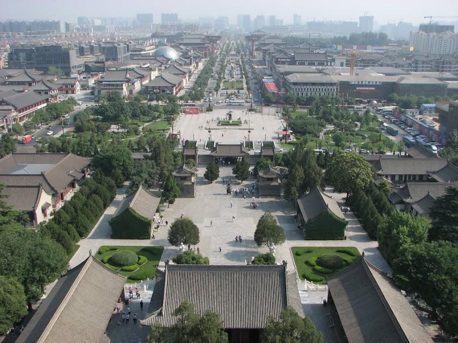 Vue d'une avenue de Xi'an.