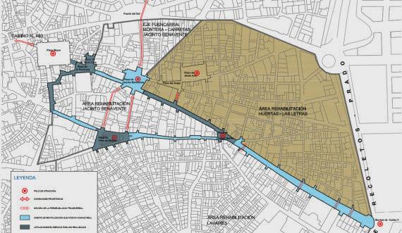 Área de Huertas-Las Letras. Finalizada la tercera y última fase de obras de infraestructuras y urbanización - pincha para ampliar el plano