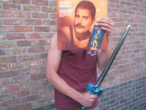Freddie Mercury Love Kills sleeveface