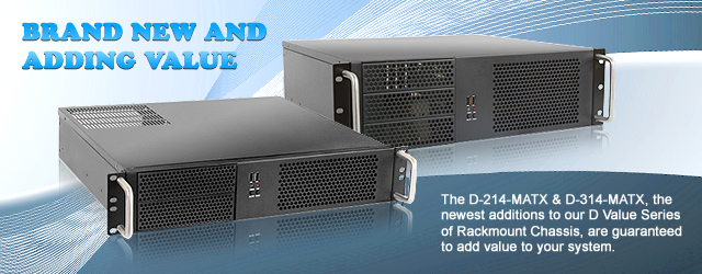 Brand New from iStarUSA: The D-214-MATX and D-314-MATX