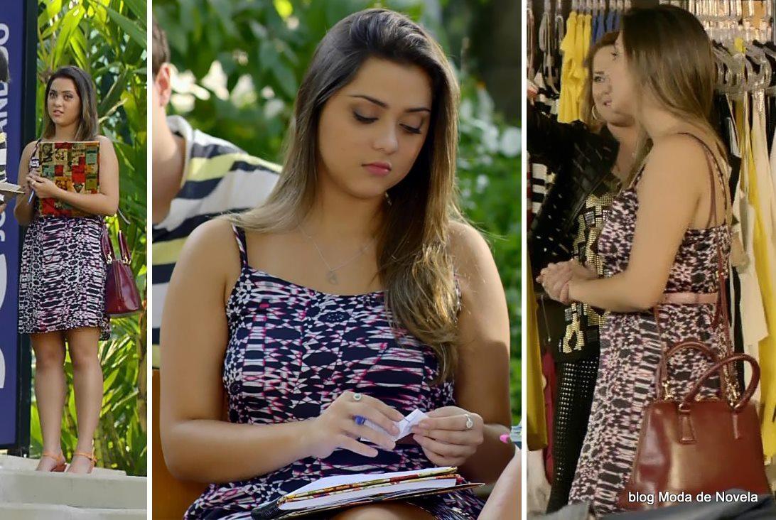 moda da novela Em Família - Bárbara da Alice dia 26 de maio