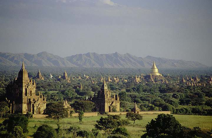 Burma: Pagodas and temples in present-day Pagan (Bagan), the capital of the Pagan Kingdom