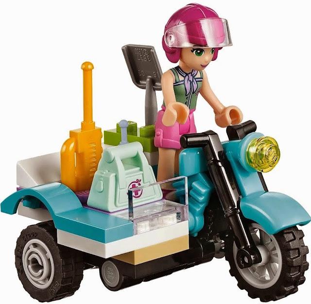 Chiếc xe mô tô cứu hộ của cô bé Emma trong bộ xếp hình Lego Friends 41032 Trạm Xe Trong Rừng
