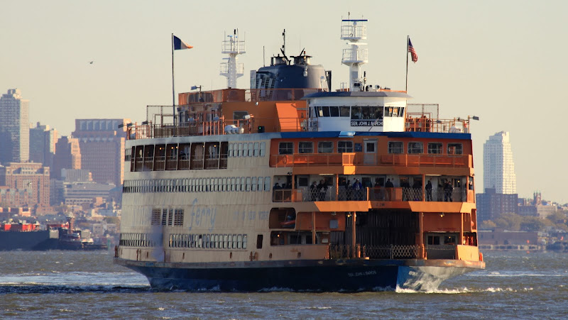 The Staten Island Ferry Heading to Staten Island